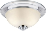 Avalon 2 Light Flush Ceiling Fixture, Chrome Finish