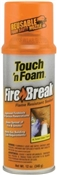 Touch N Foam Fire Break All Purpose Flame Resistant Sealant, 12 Oz