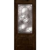 3068 Inswing Prefinished Fiberglass 3/4 Rectangular Lone Star Door Chestnut Mahogany Left Hand  sc 1 st  McCoy\u0027s Building Supply & Shop Exterior Doors at McCoy\u0027s