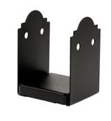 8X8 Rough Ornamental Post Base Powder Coated Black