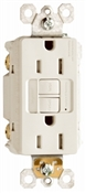 15A, Almond, 2 pole, 3 wire, grounding,  self testing GFCI outlet, tamper resistant, with LED night light, UL listed