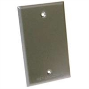 One Gang Blank Receptacle Cover - Gray