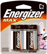 C Alkaline Batteries 2 Pack
