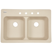 "9"" Tectonite Composite Sink, Sand"