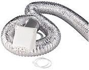 Dryer Vent Kit With Metallic Hose