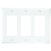 White Nylon 3 Gang Rocker Plate