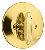 Single Sided Single Cylinder Deadbolt, Polished Brass