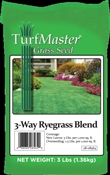 Turfmaster 28-08564 3-Way Ryegrass Blend Grass Seed, 3 Lb, Bag, 1000 Sq-Ft