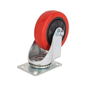 Prosource JC-384-G Swivel Caster with Brake, 4 in Dia Wheel, 220 lb Weight Capacity, Polyurethane Wheel