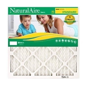 Flanders 84858.01163 NaturalAire Standard Pleated Air Filter, 16 in L, 25 in W, 8 MERV