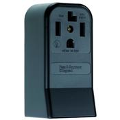 Black 30 Amp 125/250 Volt Surface Mount 4 Wire Dryer Outlet