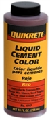 Cement Color Red Liquid 10  Ounce