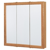 "30"" Tri-View Medicine Cabinet in Oak Finish"
