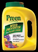Preen 21-63902 Weed Preventer Plus Plant Food, 5-5/8 lb Bottle