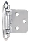 Self-Closing Flush/Overlay Cabinet Hinge - Chrome