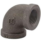 "3/4""x1/2"" 90° Elbow Black"