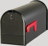 Black Rural Mailbox - Large