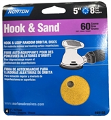 "5"" 60 Grit Hook & Loop Sanding Disc - 4 Pack"