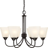 Galveston 6 Light Chandelier, Black Finish