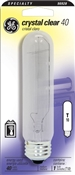 Tubular T10 40 Watt Clear