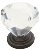 1-1/4 in (32 mm) Diameter Knob - Oil Rubbed Bronze