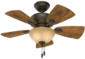 Ceiling Fan with Light, 120 V, 33 W, 3-Speed, 5-Blade, 34 In
