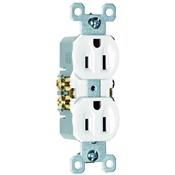White 15 Amp 125 Volt Duplex Receptacle 10 Pack