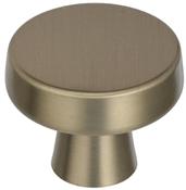 1-5/16 in (33 mm) Diameter Knob - Golden Champagne