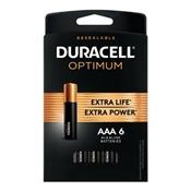Duracell 032641 Optimum AAA Batteries, 6 Pack