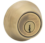 Single Cylinder Deadbolt, Antique Brass