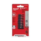 Milwaukee 48-32-4616 Insert Bit Set, Steel, 9-Piece