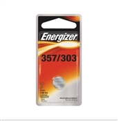 Energizer Coin Cell Battery, 357 Battery, Silver Oxide, 1.5 V Battery