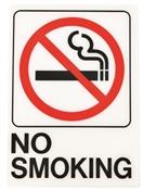 HY-KO D-20 Graphic Sign, Rectangular, NO SMOKING, Black Legend, White Background