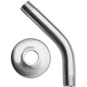"Shower Arm and Flange, Chrome 1/2"" x 8"""