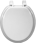 Wood Composition Round Toilet Seat - White
