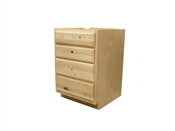 "24"" Unfinished Pine Drawer Base Cabinet"