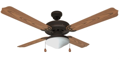 "52"" Jamaica Outdoor Ceiling Fan, Bronze"
