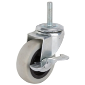 Prosource JC-N08-G Swivel Caster with Brake, 130 lb Weight Capacity, 3 in Dia Wheel, Steel