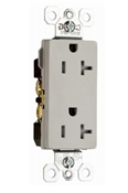 20A, Heavy Duty Decorator Outlet, Grey