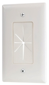 White, Pass Thru Wall Plate