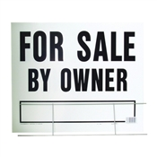 """FOR SALE BY OWNER"" CORRUGATED PLASTIC SIGN 20""X24"""