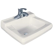 "19 x 17"" Wall Mount Lavatory, White"