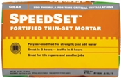 Speedset Fortified Thin-Set Mortar Gray 25 lbs