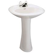 West Hampton Lavatory/Pedestal Combo - White