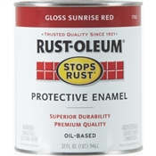 Stops Rust Protective Enamel Sunrise Red