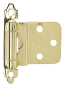 "3/8"" Offset Self-Closing Contractor Pack Cabinet Hinge - Bright Brass"