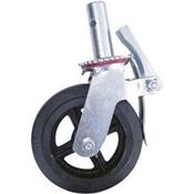 Scaffolding Caster Wheel, 750 Lb Load, Steel/Rubber, Galvanized