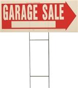 LAWN SIGN GARAGE SALE 10X24IN