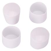Prosource FE-50615-PS Furniture Leg Tip, Round, Plastic, White