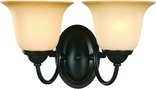 Essex 2 Light Wall Sconce, Classic Bronze Finish